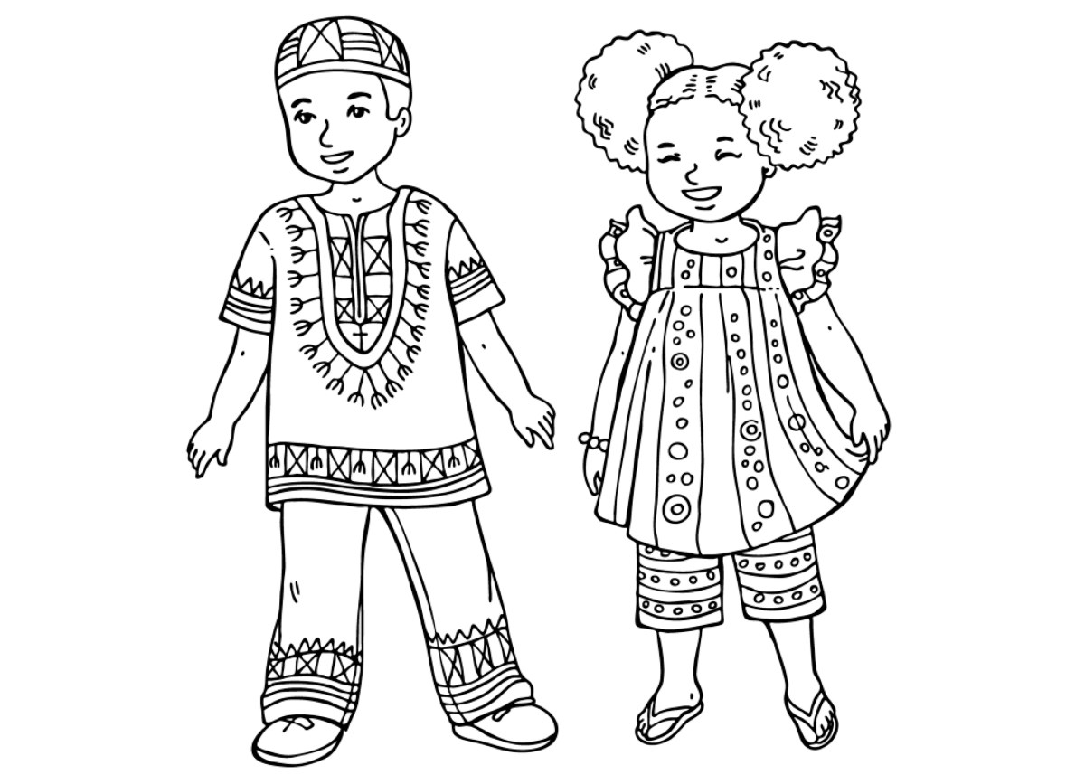 african coloring pages - photo#28