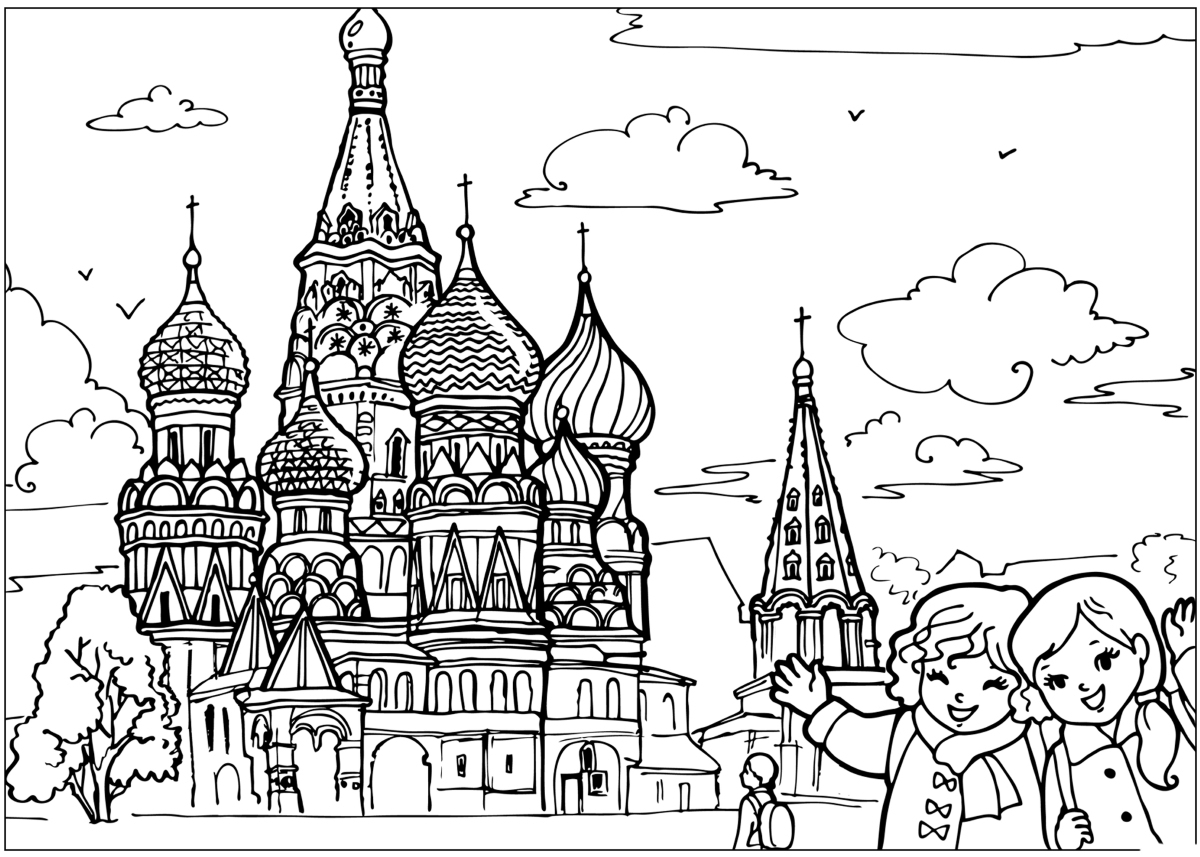 Coloring page The temple in the