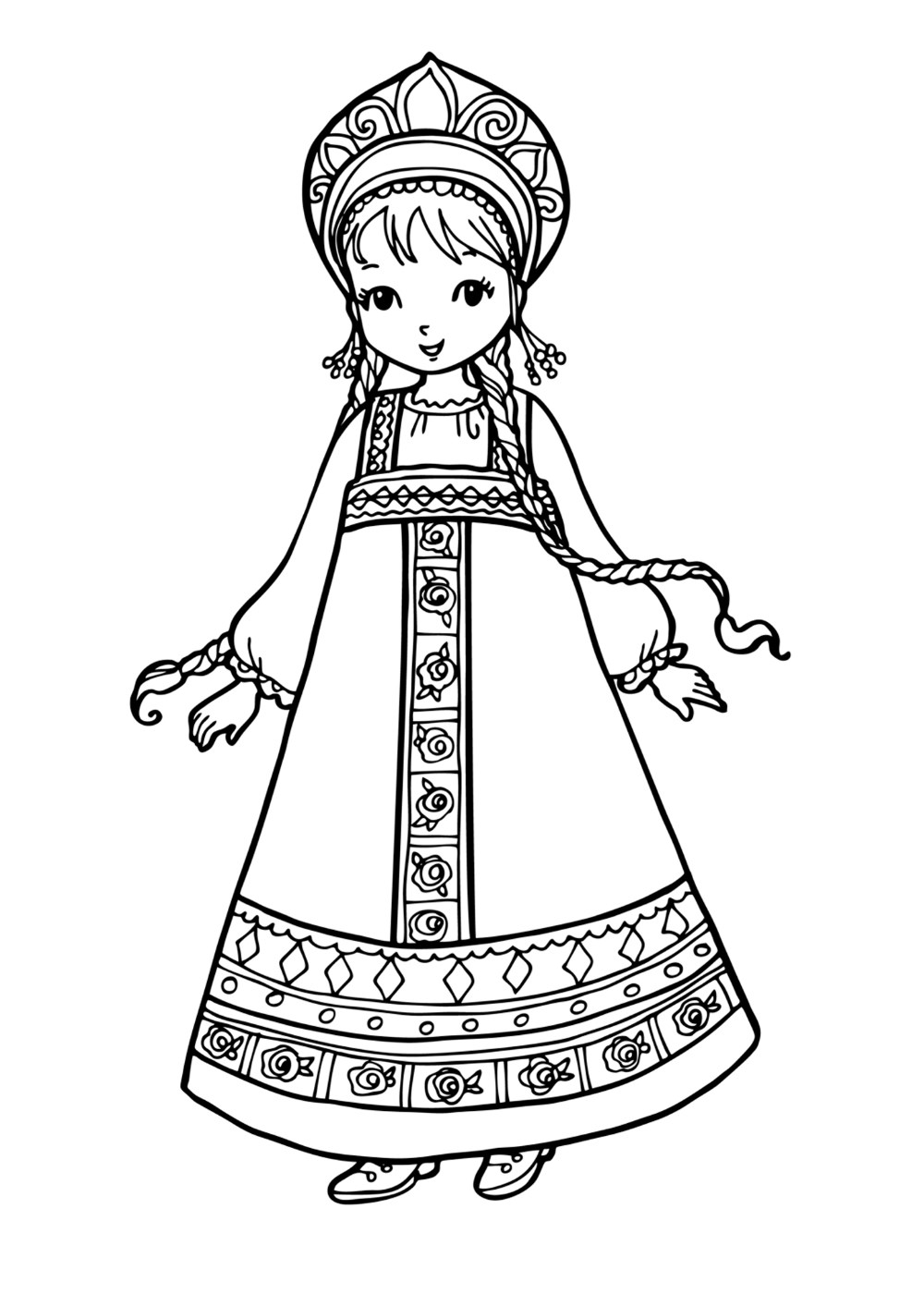 russian folk art coloring pages - photo#31