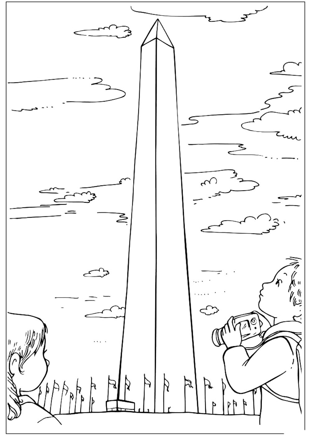 Coloring page Washington Monument