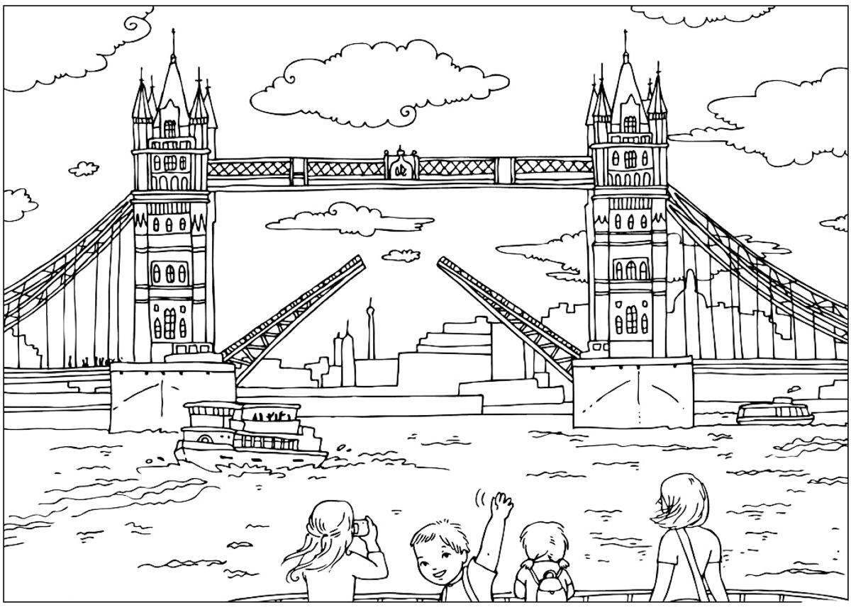 bridge coloring book pages | Coloring page - London Bridge