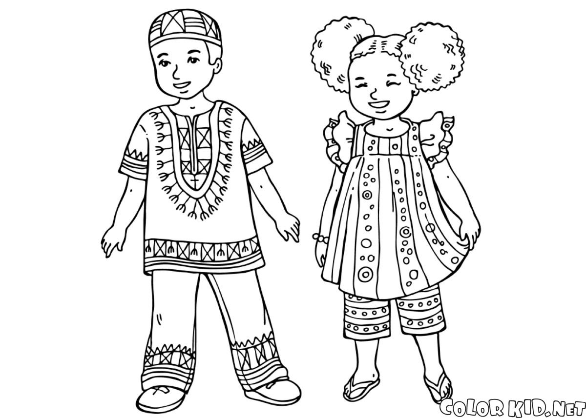 Coloring Page Chinese Children