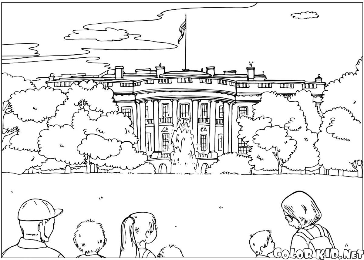 Coloring page White House