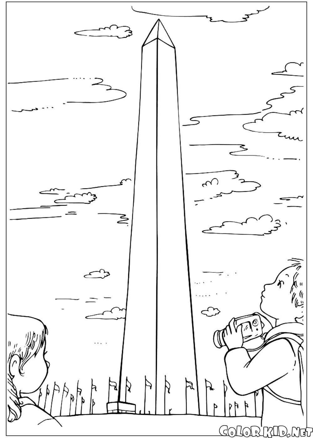 Coloring page - Washington Monument