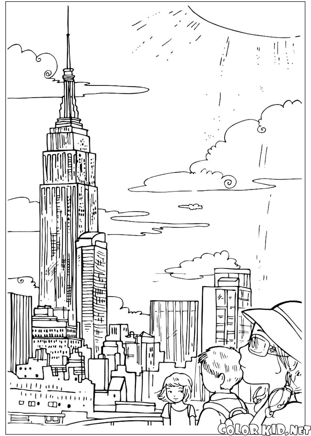 Coloring page - Empire State Building
