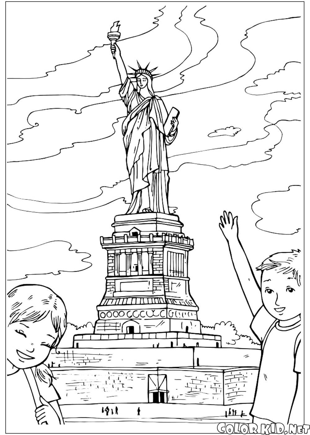 - Coloring Page - Statue Of Liberty