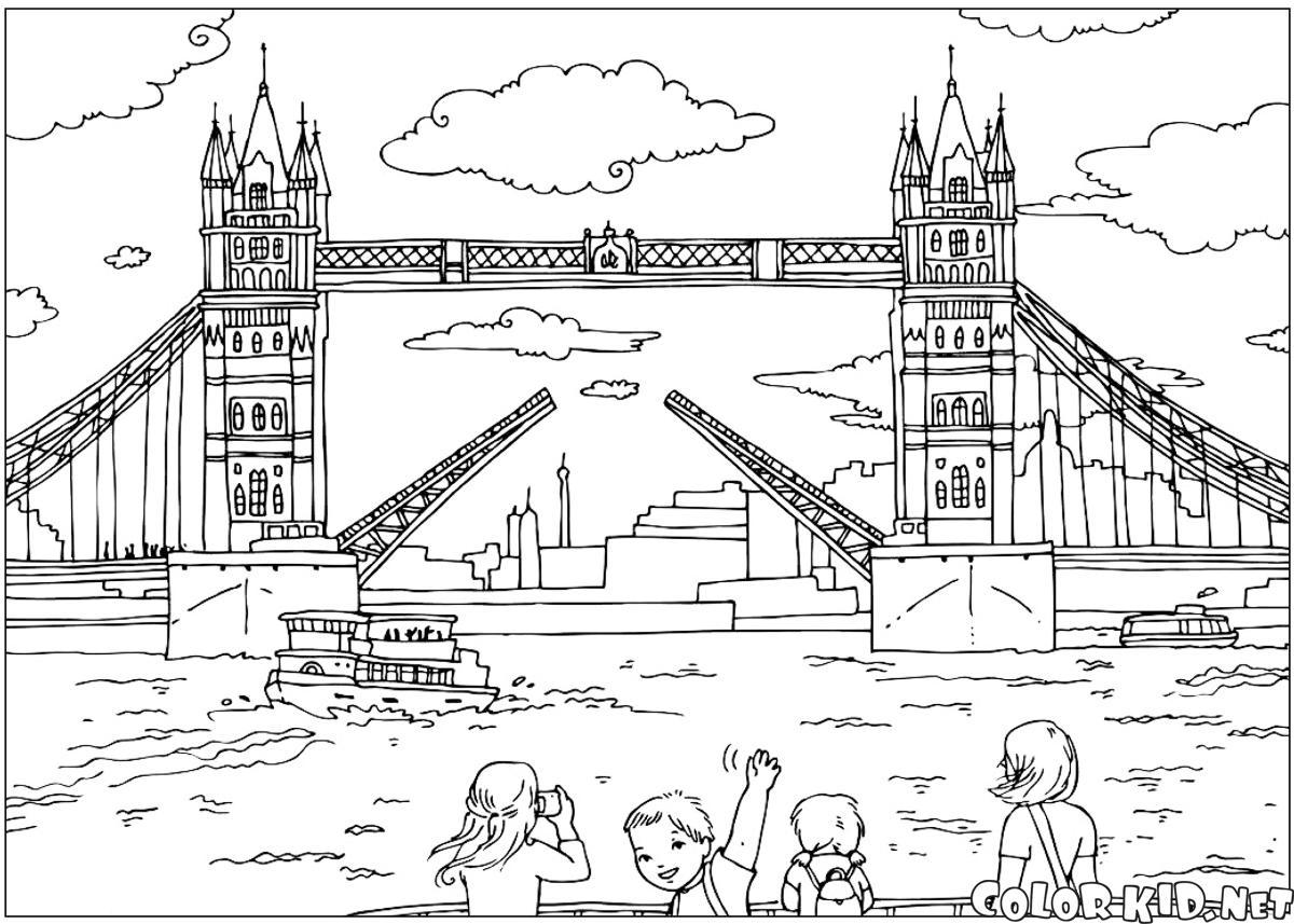 Coloring Page London Bridge