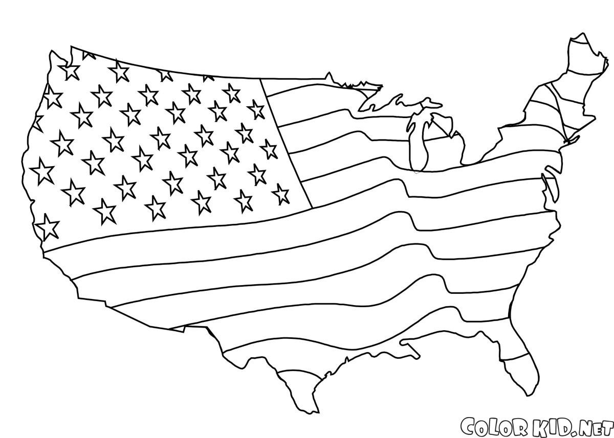 Coloring page the united states of america for United states coloring pages