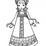 Girl in national costume