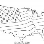 American flag Map