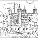 London Bridge coloring printable page for kids | 155x155